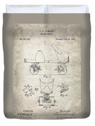 Roller Skate Patent - Patent Drawing For The 1882 F. A. Combes Roller Skate Duvet Cover