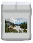 Rollin Down The Track Duvet Cover
