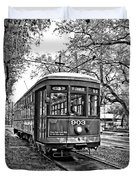 Rollin' Thru New Orleans 2 Bw Duvet Cover