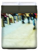 Rolling Blading In Nyc Duvet Cover