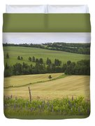 Rolling Farmland Stretches Duvet Cover
