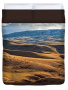 Rolling Foothills And The Bighorn Mountains Duvet Cover