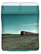 Rolling Freight Train Duvet Cover