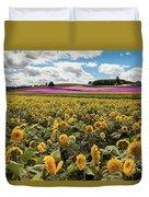Rolling Hills Of Flowers In Summer Duvet Cover
