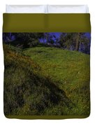 Rolling Hills With Poppies Duvet Cover