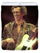 Rolling Stones Keith Richards Painting Duvet Cover