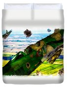 Linebacker II - The Thud - Water Color Duvet Cover
