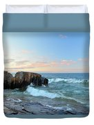 Rolling Waves On Superior Duvet Cover