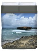 Rolling Waves On The Beach Known As Boca Keto Duvet Cover