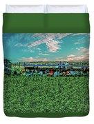 Romaine Lettuce Harvest Duvet Cover