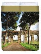 Roman Aqueducts Duvet Cover