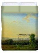 Roman Countryside Duvet Cover by Pierre Henri de Valenciennes
