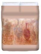 Roman Fresco Of Drink Pitchers, Herculaneum, Italy Duvet Cover