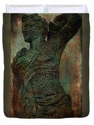 Roman Hunter Statue Torso Left Duvet Cover