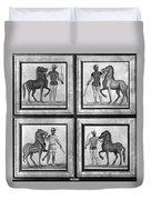 Roman Mosaic: Charioteers Duvet Cover
