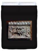 Roman Relief: Chariot Race Duvet Cover