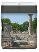 Roman Ruins Near St. Remy In Provence Duvet Cover