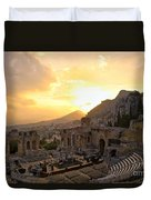 Roman Theater In Taormina IIi Duvet Cover