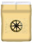 Roman Wheel Duvet Cover