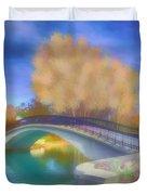 Romance At Elizabeth Park Bridge Duvet Cover