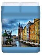 Romance In Krakow Duvet Cover