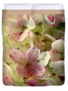 Romance In Pink And Green Duvet Cover