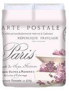 Romantic French Victorian Postcard Duvet Cover
