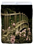 Romantic Garden And Bridge Duvet Cover