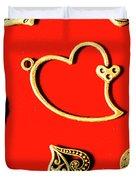 Romantic Heart Decorations Duvet Cover