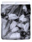 Romantic Island Iris In Black And White Duvet Cover