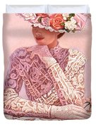 Romantic Lady Duvet Cover