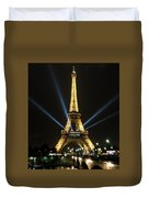 Romantic Night In Paris Duvet Cover