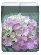 Romantic Pink Hydrangea Duvet Cover