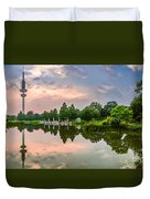 Romantic Pond In Park In Hamburg Duvet Cover