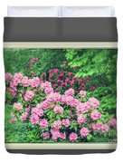 Romantic Rhododendrons Duvet Cover