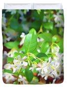 Romantic Skies Jasmine In Bloom Duvet Cover