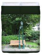 Romantic Street Lamp Duvet Cover