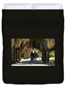 Romantic Walk 1870 Duvet Cover