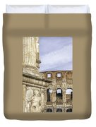 Rome Arch Of Titus Sculpture Detail Duvet Cover