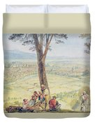 Rome From Monte Mario Duvet Cover