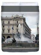 Rome Italy Fountain  Duvet Cover