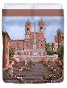 Rome-piazza Di Spagna Duvet Cover