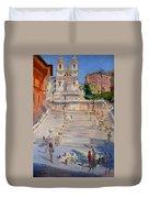 Rome Piazza Di Spagna Duvet Cover
