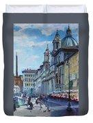 Rome Piazza Navona Duvet Cover