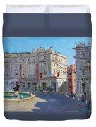 Rome Piazza Republica Duvet Cover