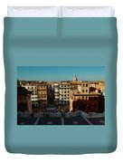 Rome Spanish Steps View Duvet Cover