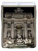 Rome - The Trevi Fountain At Night 3 Duvet Cover