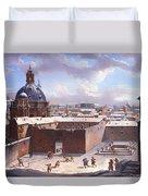 Rome Under The Snow Duvet Cover