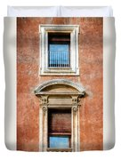 Rome Windows And Balcony Textured Duvet Cover