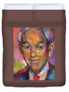 Ron Paul Art Impressionistic Painting  Duvet Cover